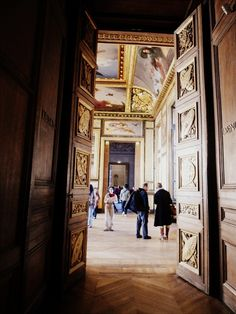 ysvoice:  | ♕ |  Entering the gallery of Louvre  | by © Julia Caffarena