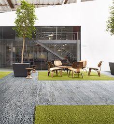 Interface launches Human Nature flooring tiles modelled on forest floors and garden paths