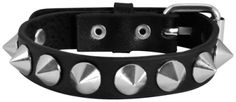 Bracelet CUIR - Conical Spikes - http://rockagogo.com #Bijoux #Rock #Punk #Gothique #Metal
