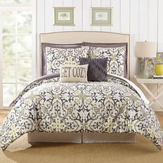 Take a look at this Jessica Simpson Cream Madrid Seven-Piece Cotton Comforter Set today! Full Comforter Sets, Bedding Sets, Twin Comforter, Linen Bedroom, Bedroom Decor, Bedroom Ideas, Gray Bedroom, Master Bedrooms, Bed Linen Design