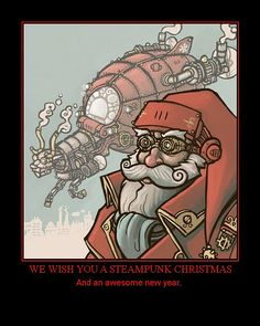 Steampunk Santa by Aether Inglewood,