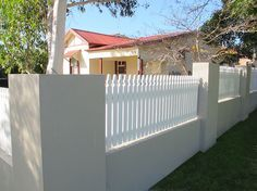 5 Efficient Tips AND Tricks: Iron Fence Dog Proof bamboo fencing extension.Low Concrete Fence front yard fencing dream homes. Brick Fence, Concrete Fence, Front Yard Fence, Farm Fence, Bamboo Fence, Cedar Fence, Dog Fence, Pallet Fence, Fence Gate