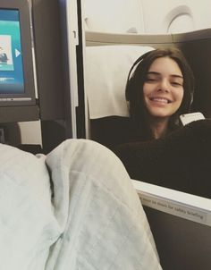 """jenner-news: Ashleah: """"Tucked in the copilot pod: Kendall Jenner. We're outta here so BYEE ✋"""" #KendallJenner"""