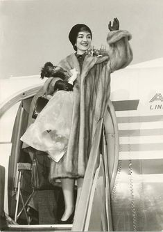 The Diva Arrives: Maria Callas, 1950s (singer, but fitting in the glamour dept.)