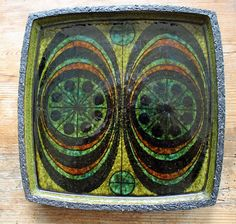 Thomas Toft, Chamotte Bowl, Denmark. 1960's, Mid Century, Retro, Lava, Scandinavian Art Pottery