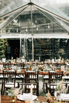woodland wedding receptions - photo by Jenna Bechtholt Photography http://ruffledblog.com/boho-pacific-northwest-forest-wedding-with-king-protea