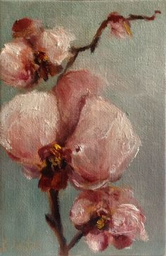 """Miniature Orchid"" daily painting by Heidi Shedlock"