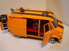Chevrolet Van orange Highway 61 diecast model car 1/18 - Buy/Sell Diecast car on Alldiecast.us