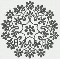 Cross Stitch Boarders, Fillet Crochet, Flower Sketches, Crochet Lace, Doilies, Needlework, Projects To Try, Creative, Stitches