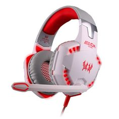 Glowing dazzeling, noise canceling G2000 Stereo Gaming Headset For PC Gamer MIC USB+3.5mm Audio Cable