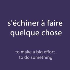 #French expression of the day:(s'échiner à faire quelque chose - to make a big effort to do something) . Audio available with the newsletter. Link available in the bio description