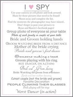 I spy wedding game wedding photography outstanding i spy wedding template picture collection certificate fantastic i spy wedding template pattern resume template maxwellsz