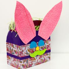 #easter tape craft. easy alternative to a traditional basket.