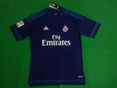 Real Madrid 15/16 Blue Jersey Real Madrid Soccer, Polo Ralph Lauren, Polo Shirt, Mens Tops, Blue, Shirts, Real Madrid Football, Polos, Polo Shirts