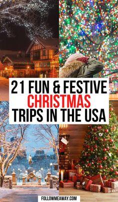 Best Christmas Vacations, Christmas Getaways, Christmas Destinations, Christmas Town, Christmas Travel, Holiday Travel, Vacation Destinations, Winter Vacations, Christmas Markets