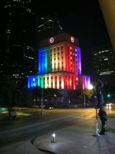 Houston celebrates gay pride- Houston City Hall