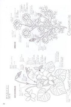 [转载]Herb Flowers 刺繡