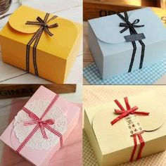 6 Color mix design Paper gift box ,Colorful paper cake box , gift package 30pcs/lot US $32.38