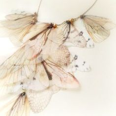 Items similar to Fairy Wings Necklace Organza Moth wings from six different species on Etsy Butterfly Jewelry, Bird Jewelry, Butterfly Wings, Jewelry Art, Butterflies And Hurricanes, Moth Wings, Organza, Wing Necklace, Soft And Gentle