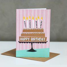 Happy Birthday cake - greetings card
