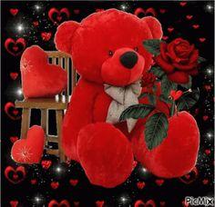 The perfect TeddyBear Hearts Rose Animated GIF for your conversation. Discover and Share the best GIFs on Tenor. Red Teddy Bear, Teddy Bear Images, Teddy Bear Pictures, Cute Teddy Bears, Happy Valentines Day Friendship, Valentine Day Love, Valentines Gif, Love You Gif, Love You Images
