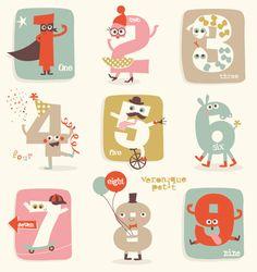 Ultra-book Veronique Petit Portfolio : Papeterie - Edition pour Snapfish // Fun numbers for birthday !!