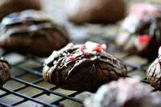 Double Chocolate Peppermint Crunch Cookies | Amandeleine More