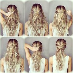 A cute twist on a classic ponytail that can be casual or dressy