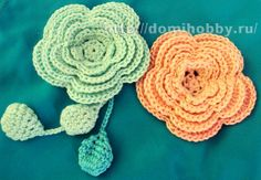 цветок крючком 1