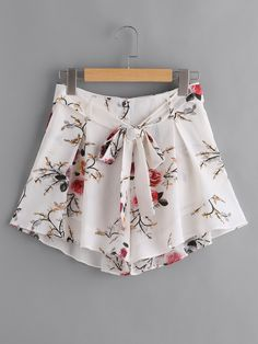 da9b161ba13 Online shopping for Self Belt Pleated Wide Leg Floral Shorts from a great  selection of women's