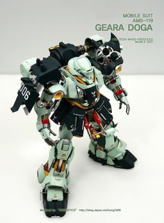 GUNDAM GUY: MG 1/100 Geara Doga [Open Hatch] - Custom Build