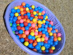 I think that DIY ball pits are Perfect for a first birthday party activity.