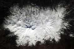 Chris Hadfield‏@Cmdr_Hadfield | Normally they're round. A square volcano in Turkey. | Mar 16, 2013