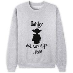 """""""Dobby est un elfe libre"""" [Harry Potter] Mode Harry Potter, Dobby Harry Potter, Harry Potter Sweatshirt, Harry Potter Outfits, Harry Potter T Shirts, Mode Outfits, Casual Outfits, Mode Geek, Fandom Outfits"""