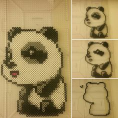 Panda perler beads by mikeduhshaun