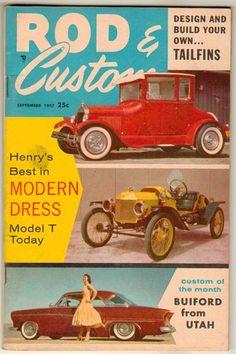 Rod & Custom Sep 1957 Old Vintage Classic Car Magazine Ford Model T Pickup