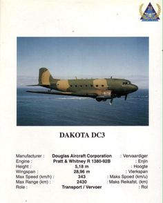 ☆ South African Airforce ✈Dakota DC3☆ South African Air Force, Army Day, Defence Force, Tactical Survival, Korean War, Air Show, My Heritage, War Machine, Special Forces