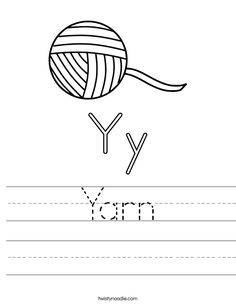 Yarn worksheet that you can customize and print for kids. Letter Y Worksheets, Transportation Worksheet, School Sports, Kids Prints, Cursive, Lettering, Noodle, Google Search, Cats