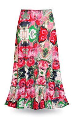 b3832fb3d9acd Sanctuarie Designs Tango In Pink Slinky Plus Size Supersize Skirt (9xT)