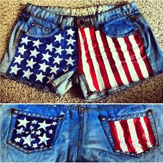Some shorts I crafted up for the 4th of July