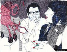 Moments & Moods in Artworks // Hope Gangloff   Afflante.com  #illustration #man #woman