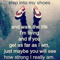 Walk a mile in my shoes, just walk a mile in my shoes Before you abuse, criticize and accuse Then walk a mile in my shoes