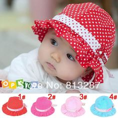 e63327931cb New Baby Girl Kids Newborn Infant Children Polka Dot Flower Bebe Bonnet Sun Hat  Cap Beanie Hair Accessories Hats Caps Headwear