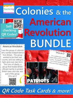 Colonies & the American Revolution BUNDLE! Revolutionary War task cards and lots more!