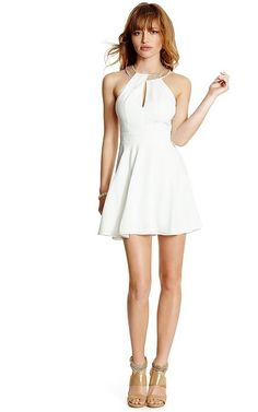 Robe patineuse découpée blanche GUESS by Marciano