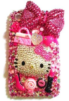 Custom Made Bling Cell Phone Case by FancyFones on Etsy, $55.00 [omg, totally in love with this case!!!! MURRRR.]