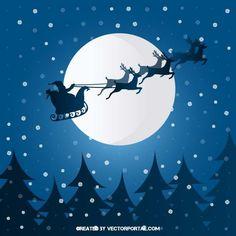 Christmas scene vector.