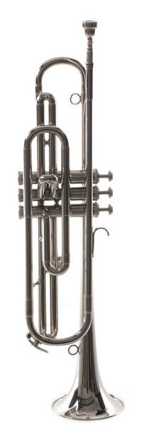 Kühnl & Hoyer model 599K Eb- clarion, short version, brass body and bell, Ø 115mm bell diameter, monel valves, thomann goldbrass leadpipe, waterkey, length 550mm, nickel plated, incl. mouthpiece