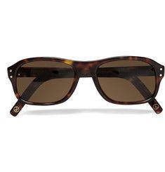 Kingsman Cutler and Gross Tortoiseshell Acetate Square-Frame Sunglasses