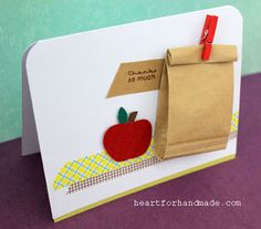 Clean and simple back to school project, card